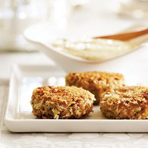 Zesty Little Crab Cakes with Lemon Caper Aioli