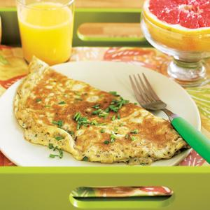 Fresh Herb Omelet with Honeyed Grapefruit
