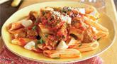 Spicy Eggplant Parmesan Pasta