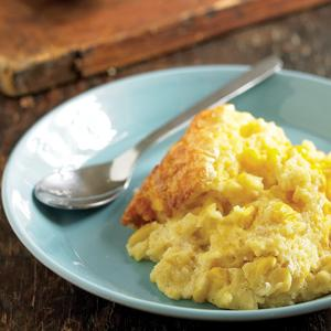 Cheddar Spoon Bread with Corn