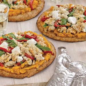 Butternut Chicken Pita Pizzas