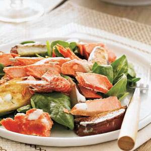 Salmon-Potato Salad with Garlic-Dill Dressing