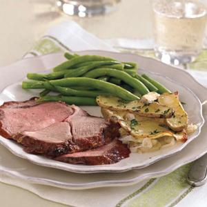 Red Currant-Glazed Leg of Lamb