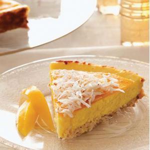 Mango Coconut Cheesecake