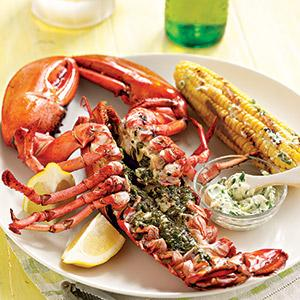 Grilled Lobster with Lemony Herbs