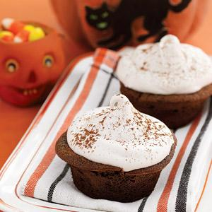 Red Devil's Food Cupcakes with Seven-Minute Frosting
