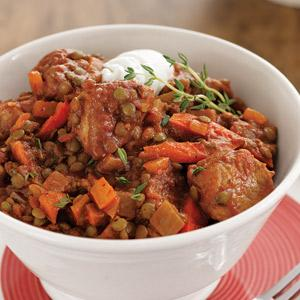 Smoky Pork Lentil Stew