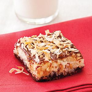 Chocolate Hazelnut Coconut Bars