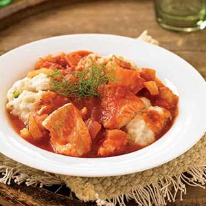 Fish Soup with Fennel Dumplings