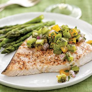 Swordfish with Kiwi Salsa