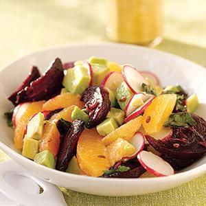 Beet, Avocado, Orange Salad