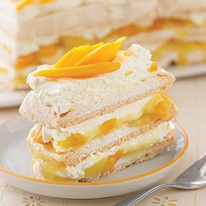 Lemon-Mango Meringue Cake