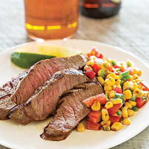 Grilled Steak with Grilled Corn Salsa