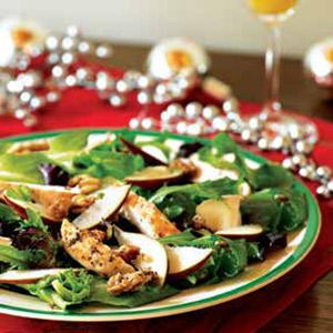 Partridge and a Pear-Brie Salad