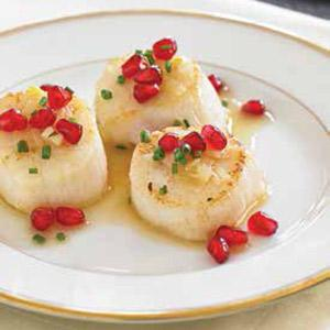 Seared Scallops with Champagne Sauce