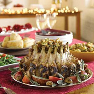 Crown Roast of Pork with Sausage Stuffing