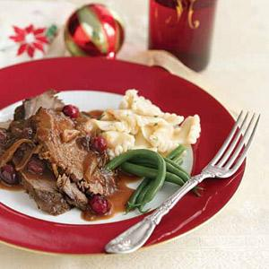 Ginger-Cranberry Pot Roast