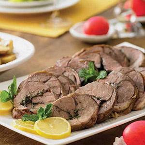 Rosemary-mint Roasted Leg Of Lamb