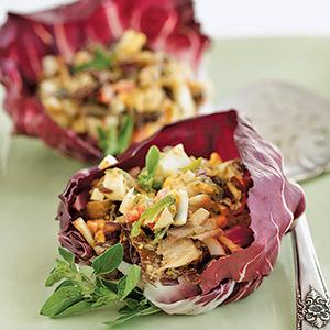 Radicchio Cups with Deviled Egg Salad