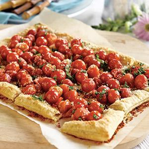 Savory Cherry Tomato Tart