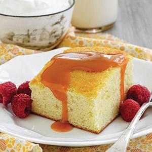 Hot Milk Cake with Dulce De Leche Sauce