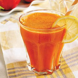 Carrot-Ginger-Peach Juice