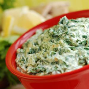 Baked Spinach Artichoke Yogurt Dip