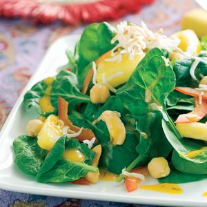 Indian Inspired Spinach Salad