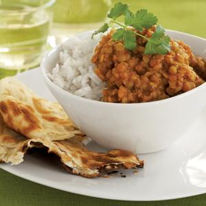 Spice Simmered Red Lentils and Rice