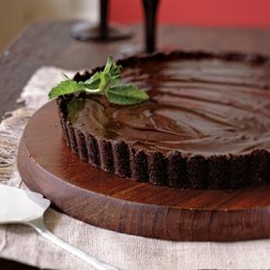Chocolate Peppermint Truffle Tart w/Chocolate Crumb Crust