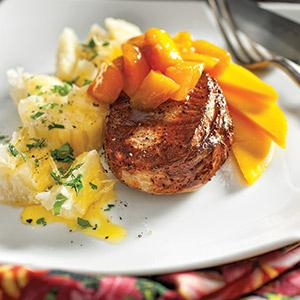 Grilled Pork Chops with Mango Chutney