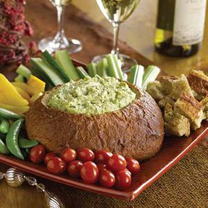 Warm Spinach Dip with Artichokes