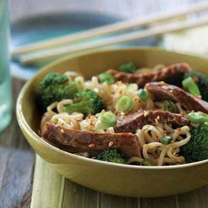 Asian Beef and Broccoli Noodle Bowl