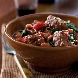 Beef, Bean and Spinach Ragout