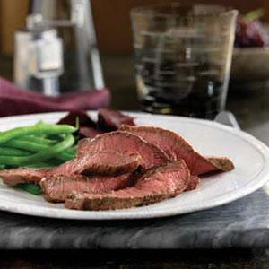 Beef Steaks with Mustard-Bourbon Sauce