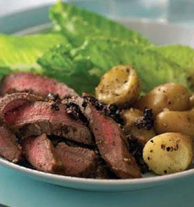 Caesar Beef Steak with Chunky Olive Tapenade