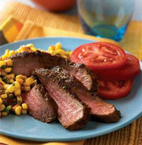 Grilled Southwest Steaks with Spicy Corn Salsa