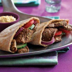 Mediteranean Beef Pitas