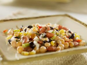 Three-Bean Salad with Tangy Coriander-Chili Dressing