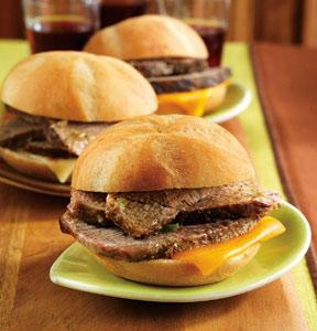 Green Chile Beef Mini Sandwiches