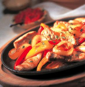Pepper-Lime Veal Fajitas