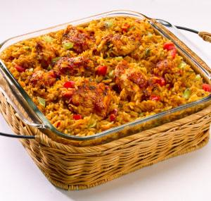 Spanish Chicken and Rice Casserole