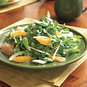 Citrus and Fennel Salad with Peppery Greens