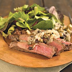Sirloin Steaks with Grilled Vidalia Onion Relish