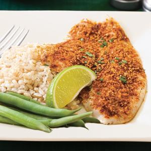 Chili-Crusted Flounder