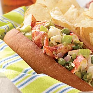 Smashed Pea Lobster Roll