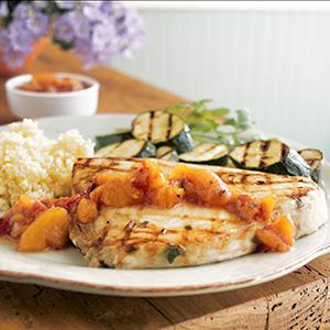 Swordfish with Peach Salsa