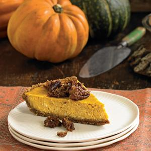 Pumpkin Cream Cheese Pie w/ Pecan Praline Crunch