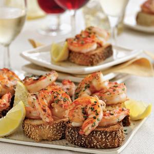 Lemon-Garlic Shrimp Toast