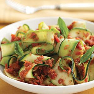 Zucchini Noodles with Red Sauce